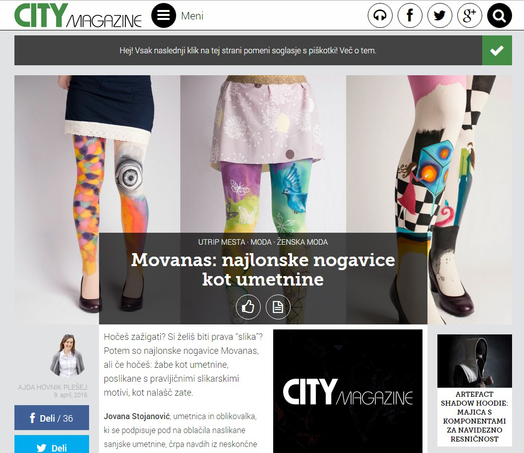 Movanas at City Magazine