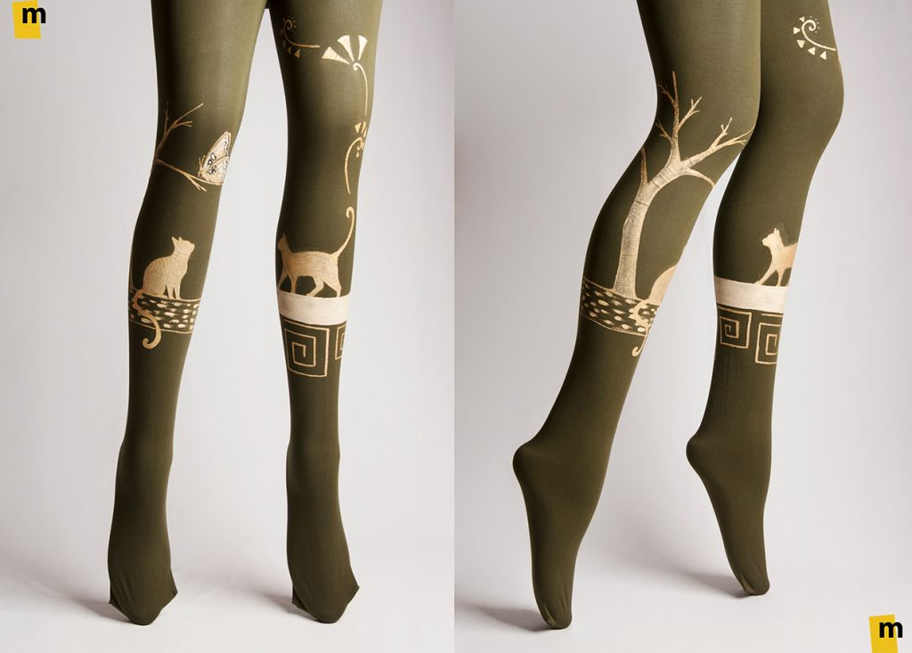 Hand-painted Tights
