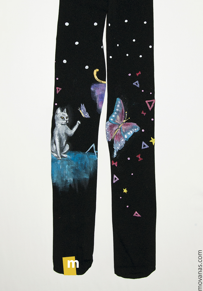 Handpainted Tights for Kids