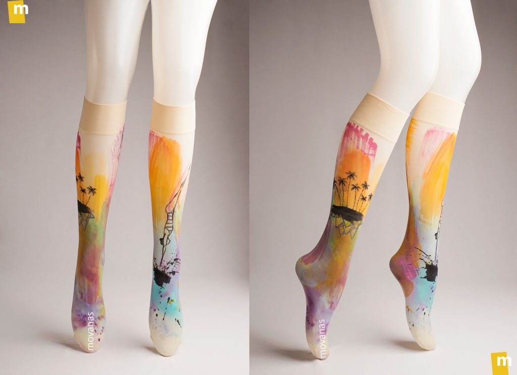 Handpainted Kneehighs