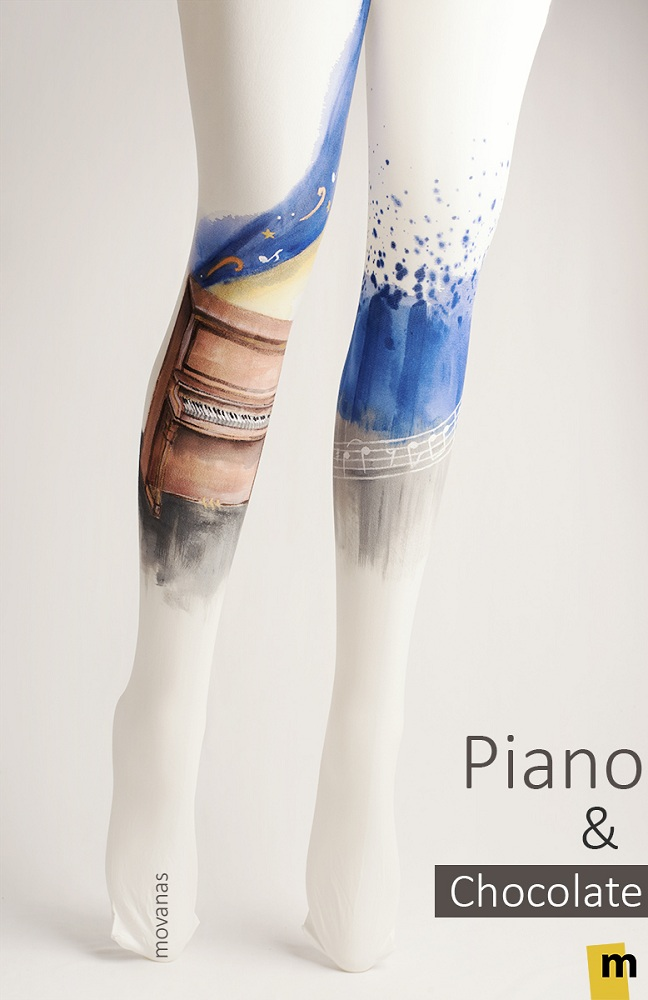 Piano Handpainted Tights