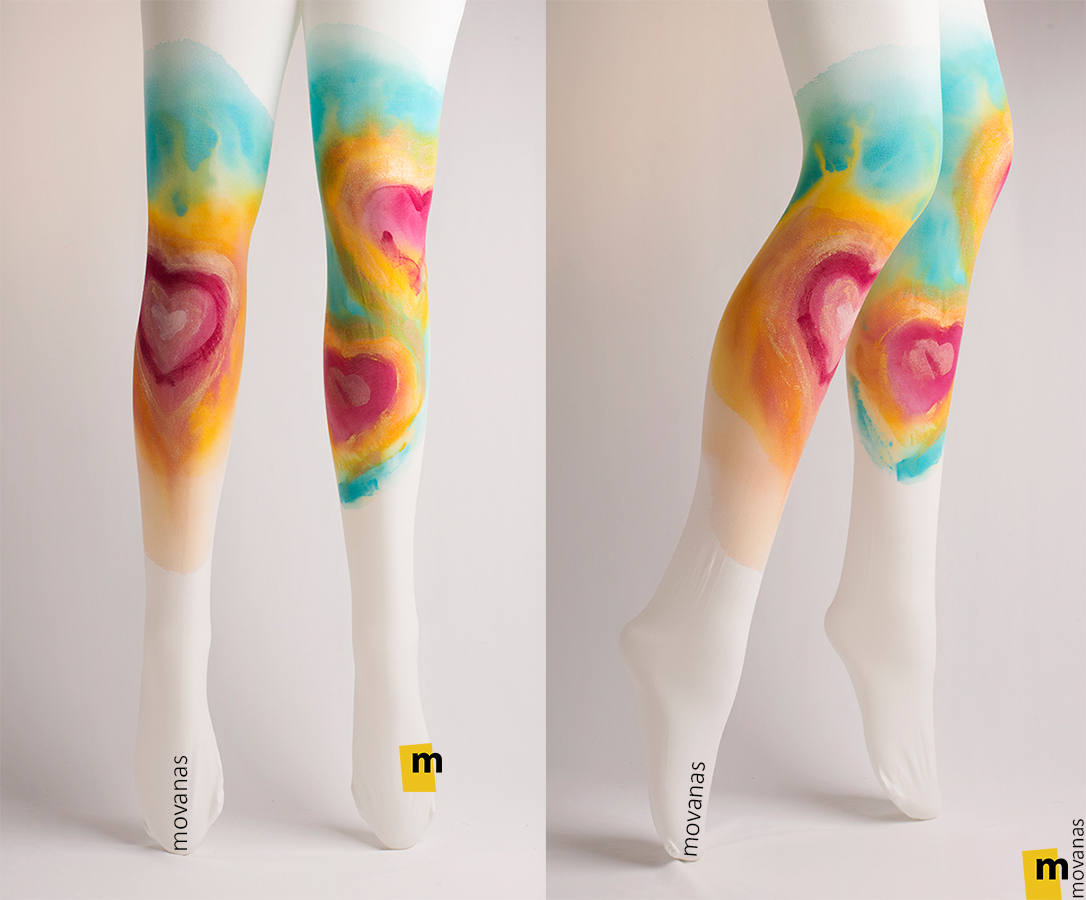 Hand-painted Tights | Hearts