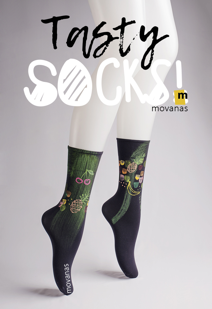 Tasty Hand-painted Socks