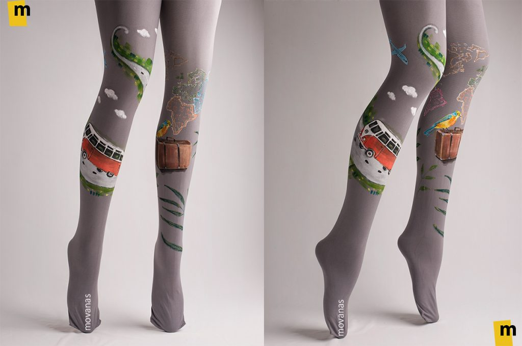 Handpainted Tights