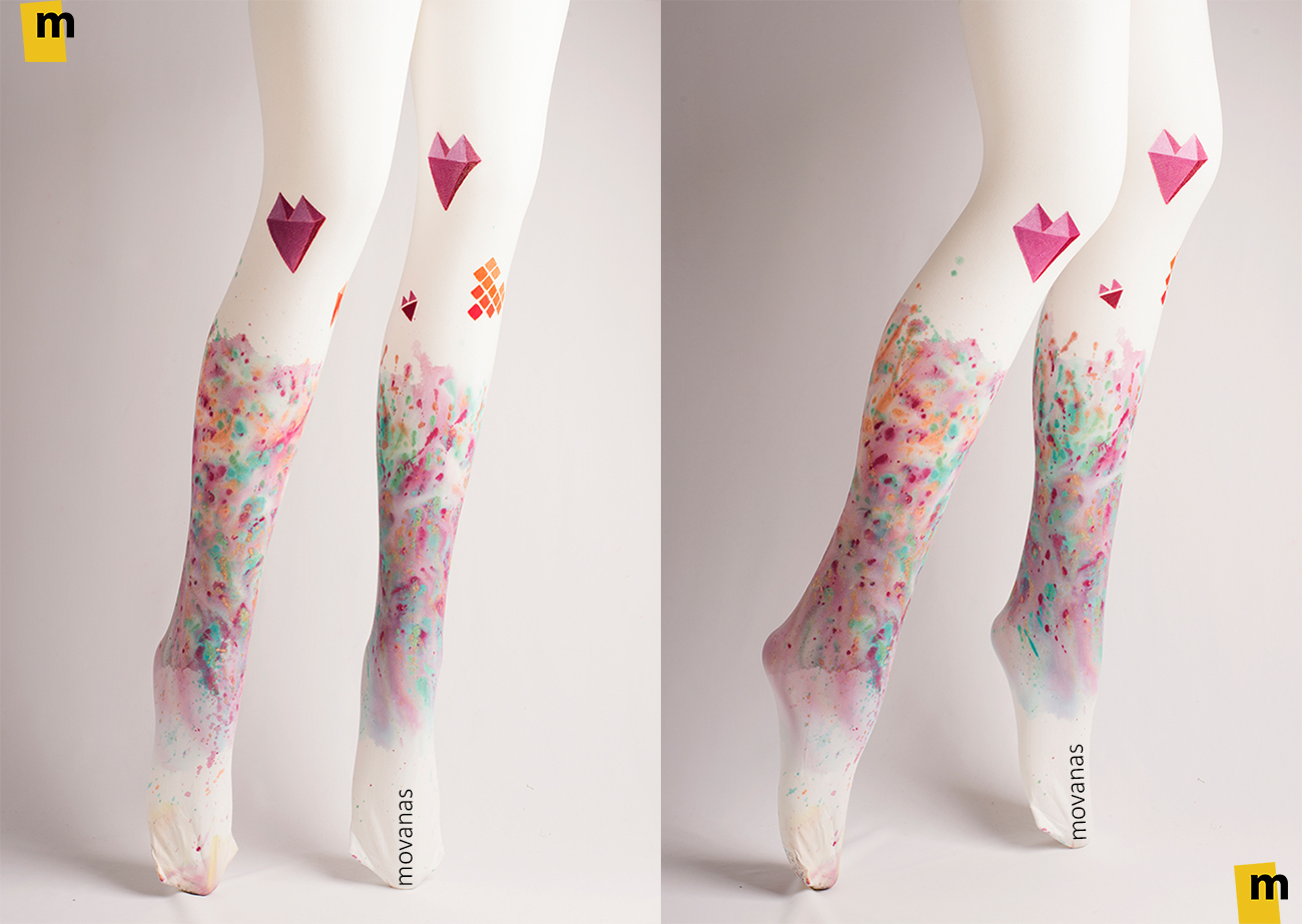 Hand-painted Tights | Valentines day